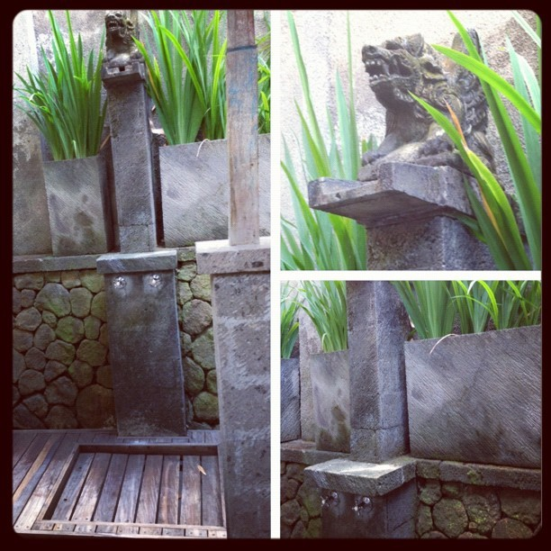Outside shower. #villa #bali  (Taken with Instagram)
