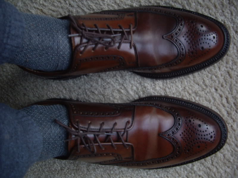 $850 RL shell wingtips with $5 Walmart sweat pants: Business Casual?!?