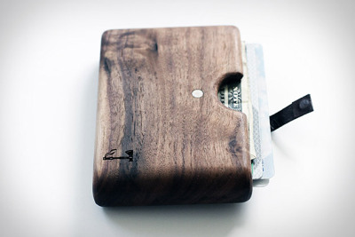Walnut Wood Wallet by Slim Timber.