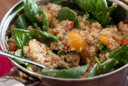 efccooking:  Quinoa Salad with Roasted Tomatoes