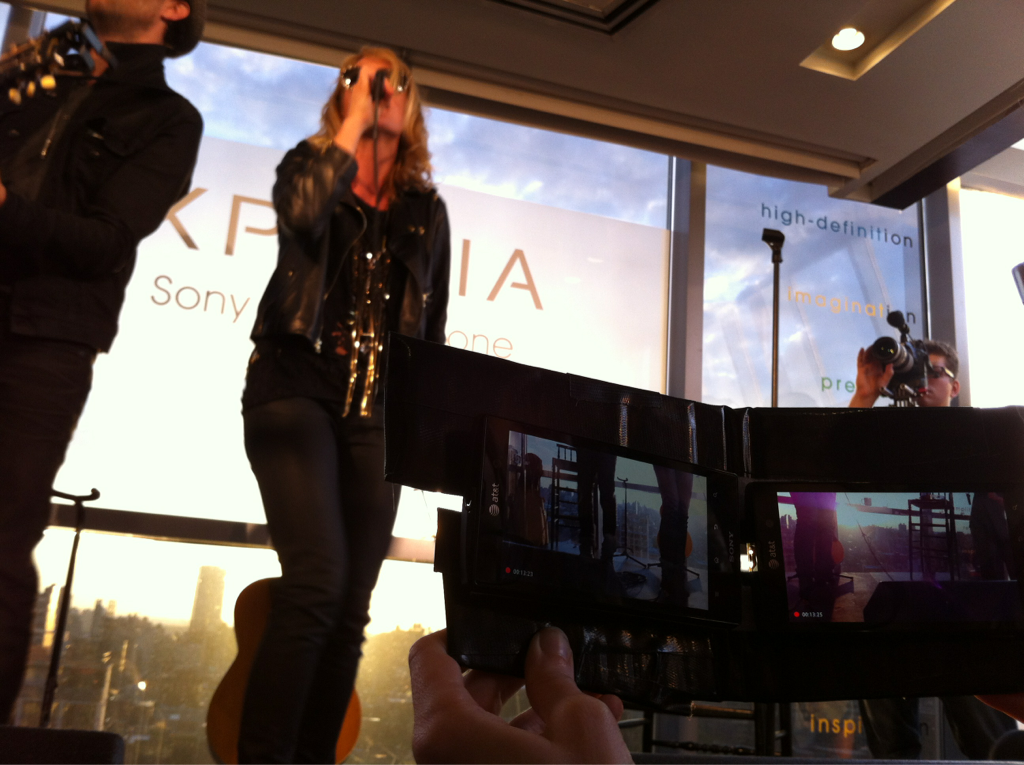 metric at sony xperia launch Amazing shoot coordinated by Chris and his good friend Eddy Vallante for Metric's new single Synthetica. You couldn't have asked for a more beautiful sunset or more fun event. Check out the view from up here…