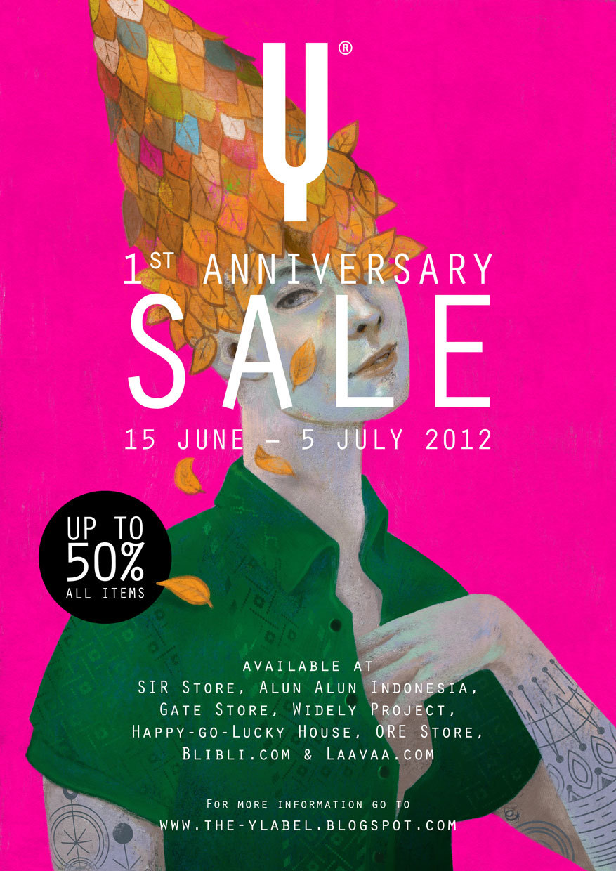 The Y Label 1st Anniversary SALE Poster & Artwork by Eko Bintang ///\\///\\///\\///\\///\\///\\///\\///\\///\\///\\