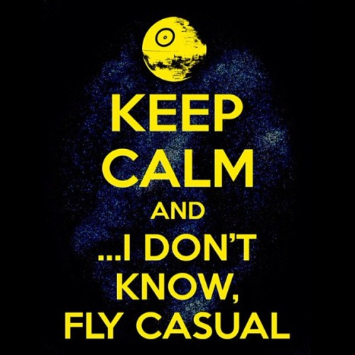 Good night people… #KeepCalm #FlyCasual #HanSolo #Chewbacca #ROTJ #StarWars  (Taken with Instagram)