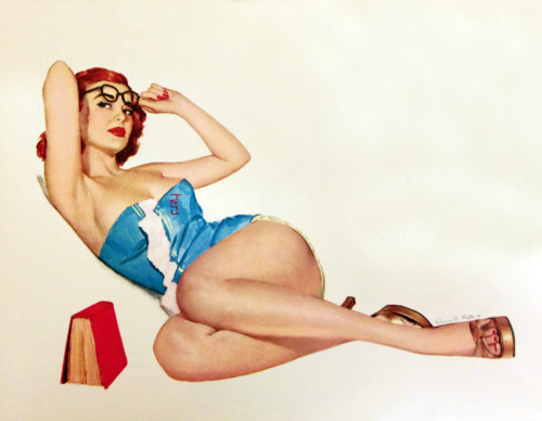 Illustration for Esquire 1952 calendar by Russell Keller