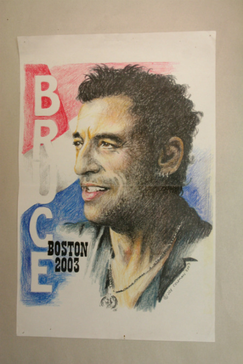 Bruce Springsteen, colored pencil