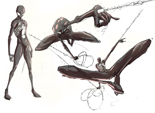 fyeahsuperheroes:  black suit sketches 1.5 by ~cereal199