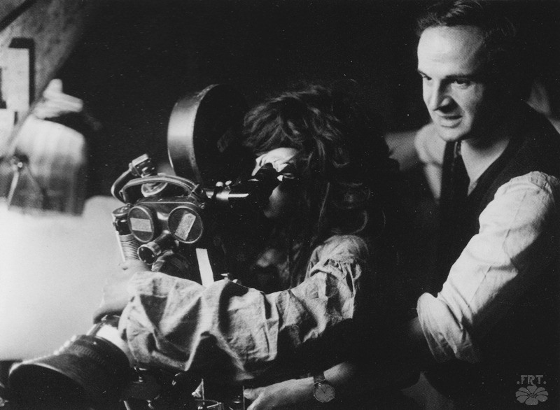 Jean-Pierre Cargol and François Truffaut behind the camera - 1969