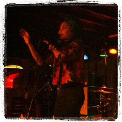 The lovely @yunazarai performing at Blueberry Hill #stl #music  (Taken with Instagram)