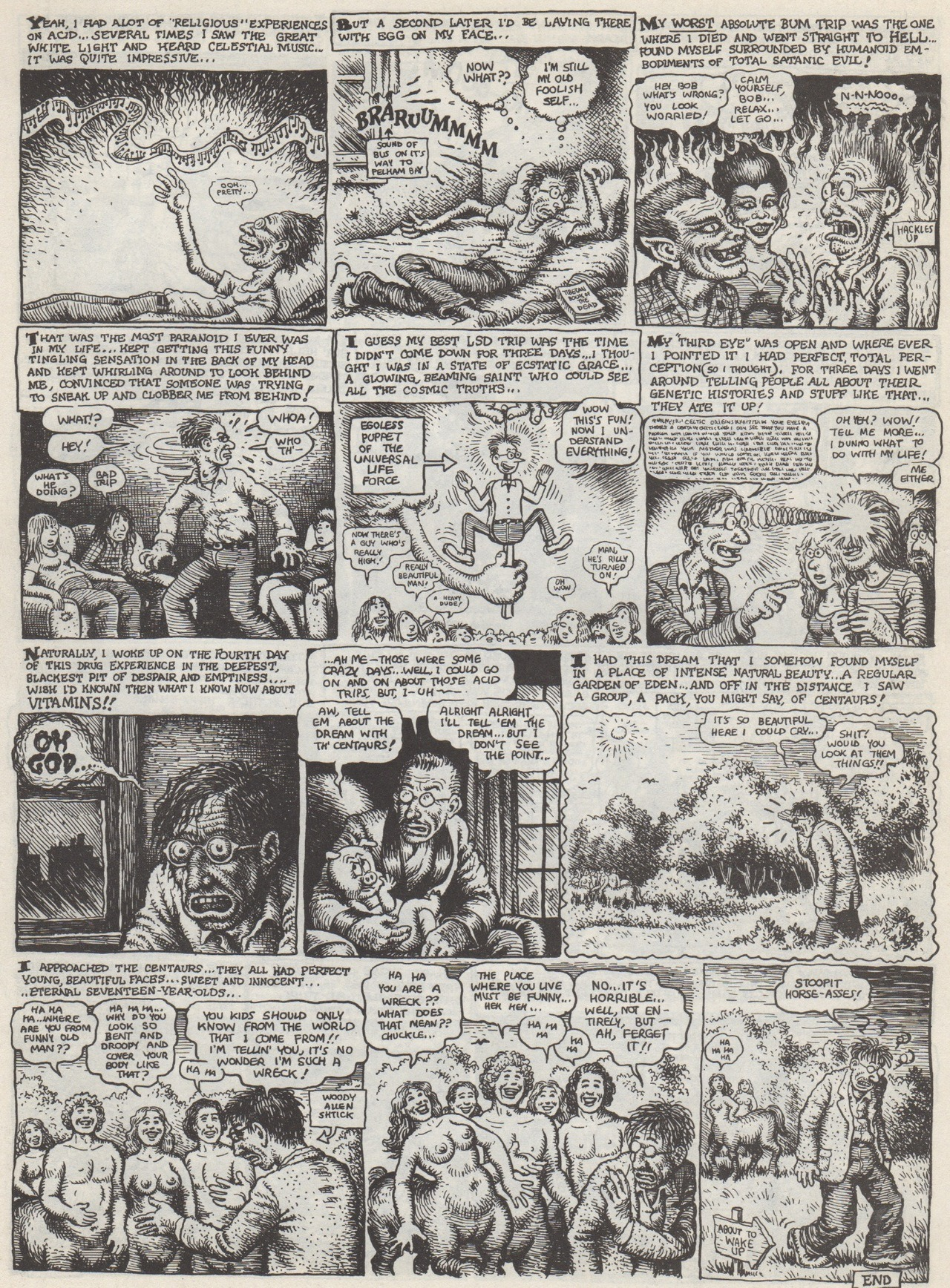 "From ""I Remember The Sixties: R. Crumb Looks Back!"" by R. Crumb. Scanned from Weirdo Number 4, Last Gasp Eco-Funnies, February 1982"