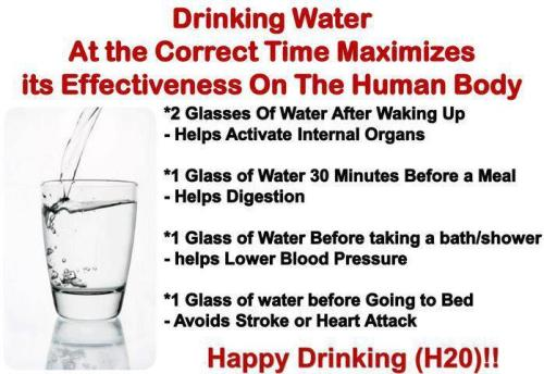 healthisstrength:  When to drink water and why!