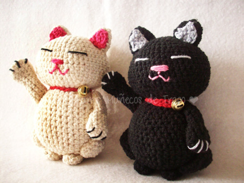 Maneki neko! Pattern here <— Patrón ♥ Galería/pedidos