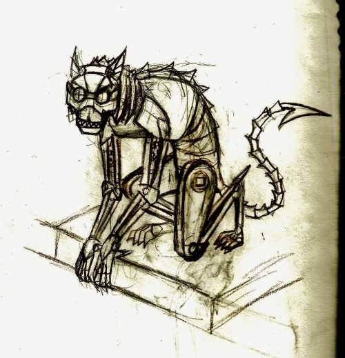 thegrinningcatofdoom:  The clockwork grinning cat of doom My fanbot.