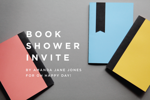 Book shower invitation printables from Oh Happy Day!