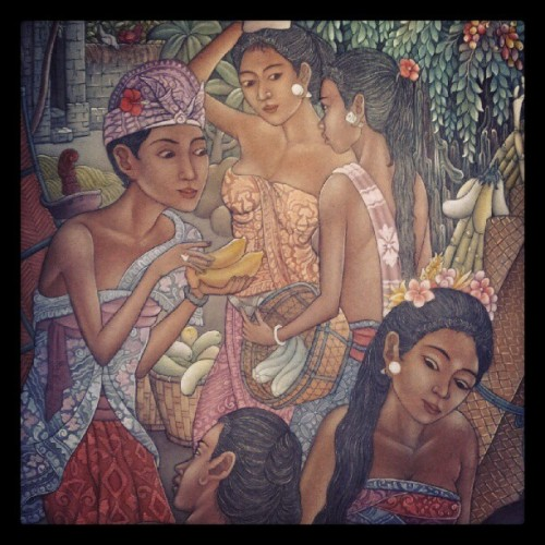 #Balinese #activity #market #painting #Bali @hellogram (Taken with Instagram)