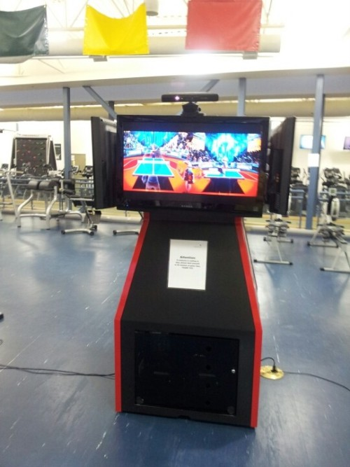 Lmao Kinect and DDR at the gym (Photo by jhbae1205)
