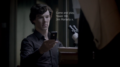 "ishipjohnlock247:  holmesandthehedgehog:  finalproblem:   Come and play. Tower Hill.  But how should I sign it?  Jim  He'll know that's me, right? But what if he knows another Jim? Oh, god. What if he thinks it's that idiot serial killer Stabby Jim from Manor Park? I hate that guy. Why does he have to be named Jim? Why haven't I killed him yet? Maybe if I…  Jim (from the pool)  No. Just—I can't. No.  Jim M.  That's better. Unless Sherlock thinks it's my brother. Does Sherlock know I have a brother? He might know I have a brother. Why does my brother have to be named Jim? Why does everyone have to be named Jim? Why haven't I killed everyone yet? Okay, okay. Calm down. You're overthinking this. Just keep it simple.  JM  He'll know who I am. Of course he'll know who I am. Unless he thinks John's having trouble telling his Ws from his Ms again. Ha ha ha. I love how stupid ordinary people are. Initials. Short and to the point. That's what Sherlock would do. Crap. That's exactly what Sherlock would do. That's what he always does—""SH"". What if he thinks I'm copying him? Dammit, dammit, dammit.  Jim Moriarty  Fine. I'll just put my whole name. … Seems kind of impersonal, though.  Jim Moriarty x  There. Perfect. Now should that have a full stop at the end, or…?  Jim Moriarty x. > SEND MESSAGE  Oh god, oh god, oh god. Why did I do that? I shouldn't have added a full stop. Now he's looking at the full stop, and he's judging me.      Never full stop after the x Jim! You're the world's only consulting criminal…how could you not know that?"