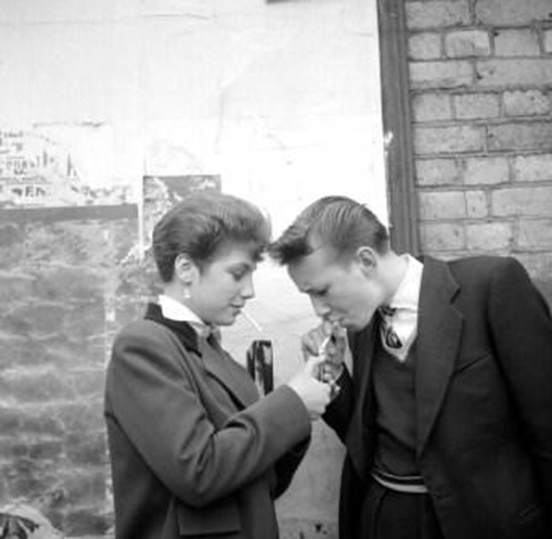 theniftyfifties:  Teddy Girls photographed by Ken Russell, 1950s.