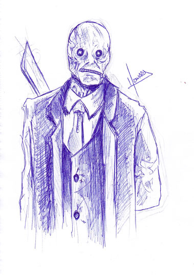 Nightbreed 10-minute sketch - Dr. Decker aka Buttonface