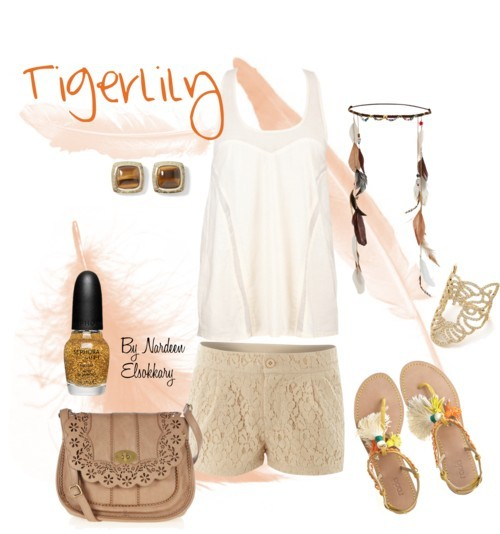 Tigerlily by nardeenelsokkary featuring leather sandals