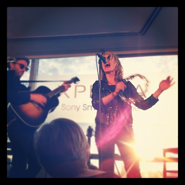 penthouse, tambourine, sunset, metric  One of my favorite moments from the music video shoot event. Photo taken with Instagram @ Hotel on Rivington