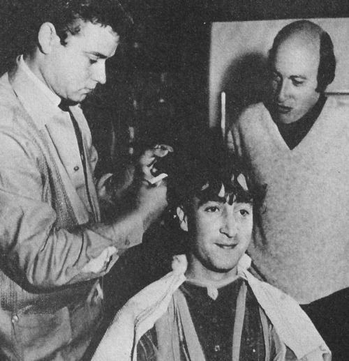 John Lennon getting his hair cut for How I Won The War