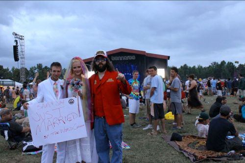 I married this couple at Bonnaroo on sunday 6/10/12. @Samnjaymonroe on twitter. This thurs fri & sat june 14-16 - i'm doing shows in Philly at Helium Comedy Club. http://www.heliumcomedy.com Draw a pic of me & win 2 free tix to one of my shows in philly.