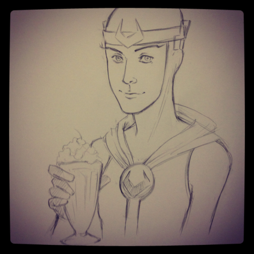 tigerlilyattack:  Loki x Milkshake. (as long as Leah isn't around to take it from him)