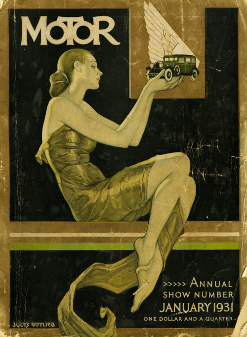 Jules Gotlieb, Motor mag, Annual Show Number, January 1931.