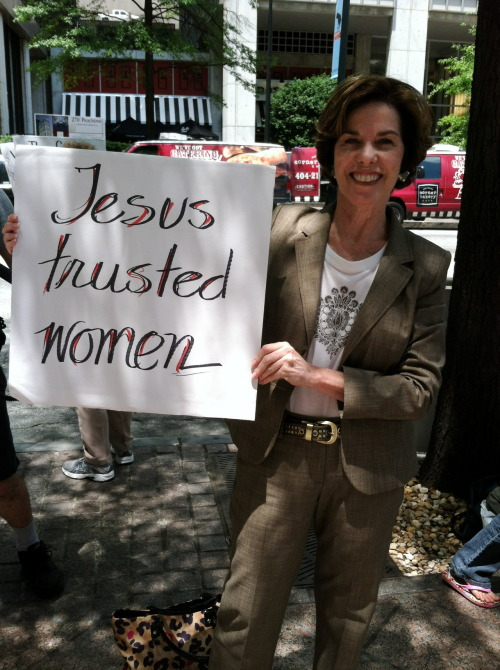"""Jesus trusted women.""  Atlanta, GA 6/13/12"