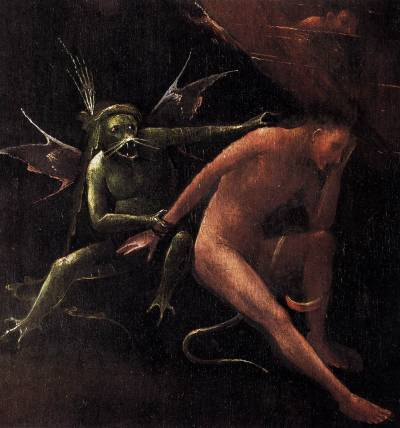 Another working weekend: Hell, (detail) Hieronymus Bosch, 1500-1504