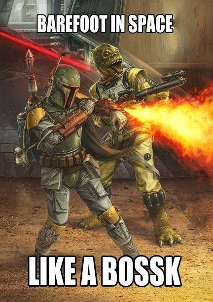 Bossk has always been my favorite bounty hunter.