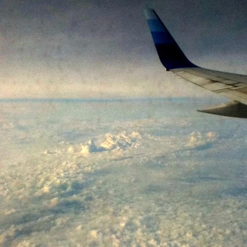 Clouds on the plane…just wanna bounce on them(;