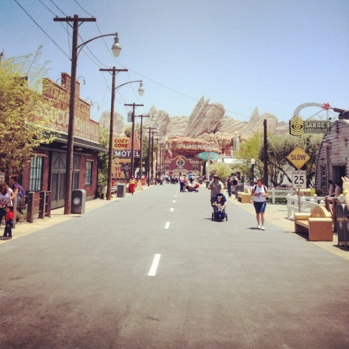 Radiator Springs! Like a scene right out of the movie.