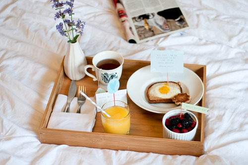 flitandfancy:  A cup of Mai: Breakfast in Bed for Mother's Day -Egg In A Hole on We Heart It. http://weheartit.com/entry/30532142
