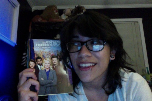 Gonna get started watching the Parks & Recreation season 2 dvds that Dr. let me borrow. I got a big day at Disneyland tomorrow! <3