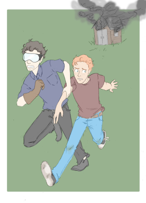 Sherlock and Martin, Youthful hijinks Some people messaged me saying they couldn't see the picture in the reply post, so I'm uploading it again so it can be seen? Sorry for the repost guys.