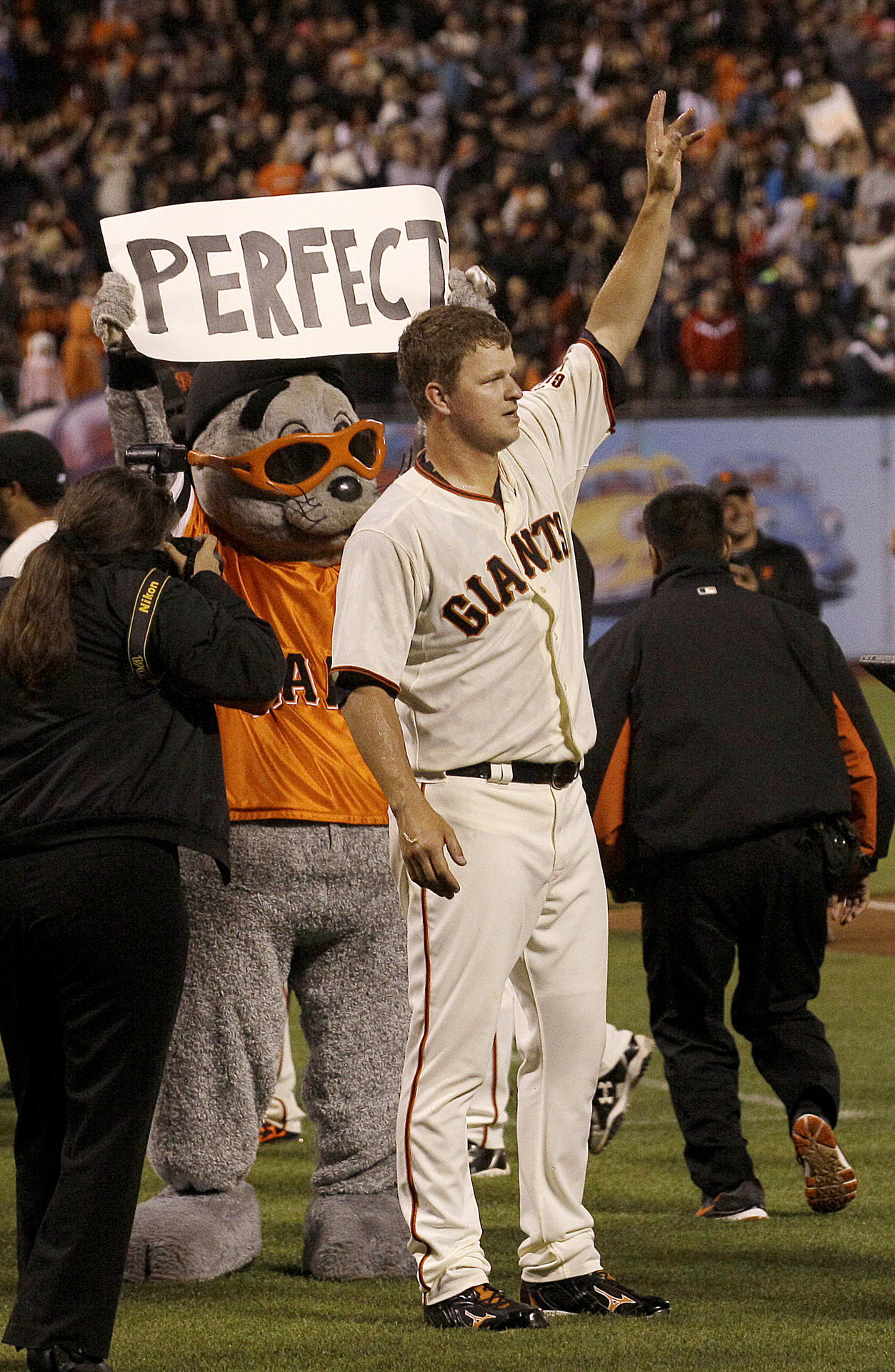 sfgiants:  First perfect game in Giants history.