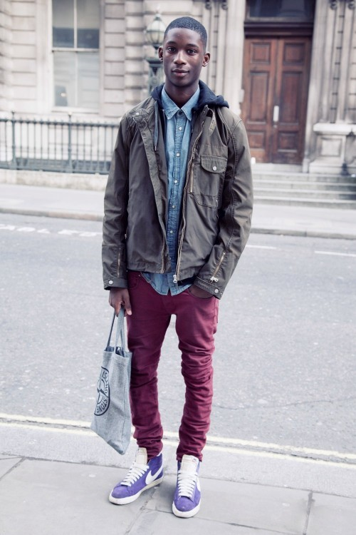 talldaddy:  streettstyle:  (via London Fashion Week Looks - Part Three, Mensday)  www.talldaddy.tumblr.com