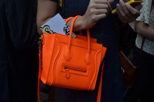 celine mini luggage in orange.   Droooooool