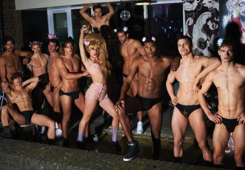 Mariano Vivanco -Jodie Harsh and ten male models for Candy magazine