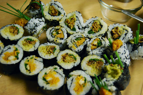 Vegan sushi. Recipe here.