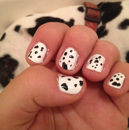 Dot Com inspired nails!