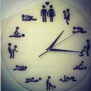 fuckimhorny:  swagmania:  Which Hour do you Prefer?  I want this clock!