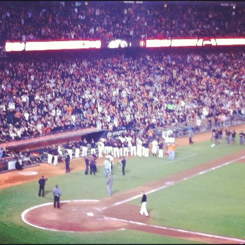 #sfgiants and the crowd goes nuts for #perfectcain (Taken with Instagram)