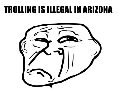 Well it's not illegal yet, but we all know Arizona…  Submitted by nairbsemro