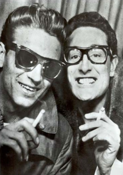 slick-van-dyke:  Waylon Jennings & Buddy Holly