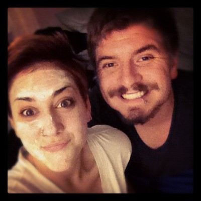 He's so cute he even applies my face mask :) #boyfriend#bestfriend#husband#facials (Taken with Instagram)