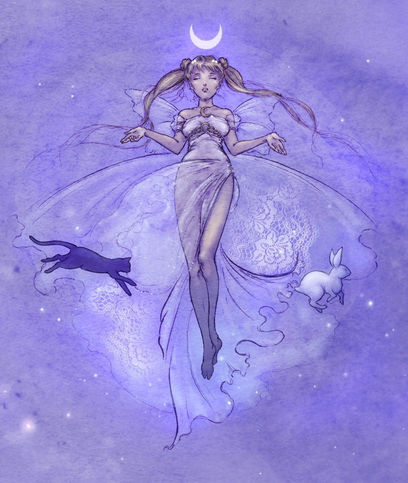 sileniadream:  Sailor Moon - Serenity by ~Mikadze