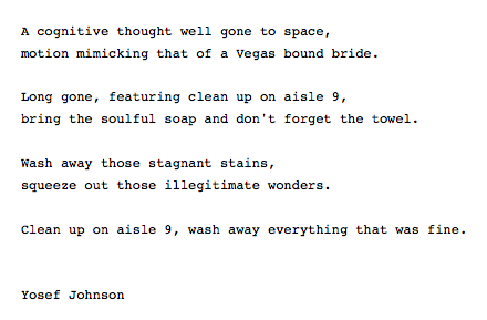 by Yosef Johnson,  I am back after some terrible writers block.