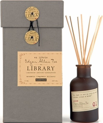 amandaonwriting:Edgar Allen Poe Diffuser  the aroma of books?